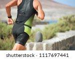 athlete runner running on...   Shutterstock . vector #1117697441