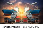 logistics and transportation of ... | Shutterstock . vector #1117699547