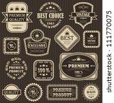 vector set. vintage labels.... | Shutterstock .eps vector #111770075