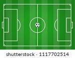 top view of  green football... | Shutterstock .eps vector #1117702514