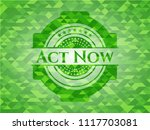 act now green emblem with... | Shutterstock .eps vector #1117703081