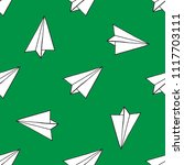 paper airplane seamless pattern | Shutterstock .eps vector #1117703111