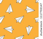 paper airplane seamless pattern | Shutterstock .eps vector #1117703147
