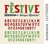vector vintage style alphabet ... | Shutterstock .eps vector #1117703231