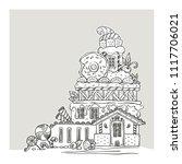 gingerbread house  lovely...   Shutterstock .eps vector #1117706021
