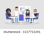 workshop training. modern... | Shutterstock .eps vector #1117711241