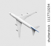 model plane airplane in white... | Shutterstock . vector #1117713254