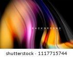 fluid liquid glowing colors... | Shutterstock .eps vector #1117715744
