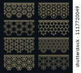 set of golden seamless borders  ...   Shutterstock .eps vector #1117720049