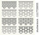 set of black seamless borders ...   Shutterstock .eps vector #1117720055