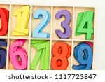 multicolored numbers placed in... | Shutterstock . vector #1117723847