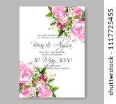 wedding invitation vector...   Shutterstock .eps vector #1117725455