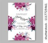 wedding invitation vector...   Shutterstock .eps vector #1117725461