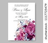 wedding invitation vector...   Shutterstock .eps vector #1117725479