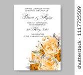 wedding invitation vector...   Shutterstock .eps vector #1117725509