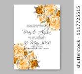 wedding invitation vector...   Shutterstock .eps vector #1117725515