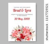 wedding invitation vector...   Shutterstock .eps vector #1117725521