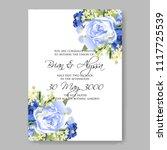 wedding invitation vector...   Shutterstock .eps vector #1117725539