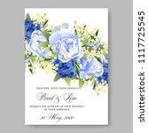 wedding invitation vector...   Shutterstock .eps vector #1117725545