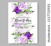 wedding invitation vector...   Shutterstock .eps vector #1117725551