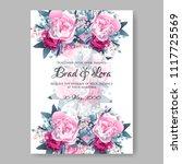 wedding invitation vector...   Shutterstock .eps vector #1117725569