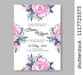wedding invitation vector...   Shutterstock .eps vector #1117725575