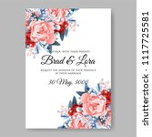 wedding invitation vector...   Shutterstock .eps vector #1117725581