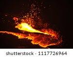 lava lake of erta ale volcano | Shutterstock . vector #1117726964