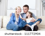 happy family has a day off | Shutterstock . vector #111772904
