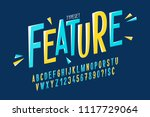 trendy comical condensed font... | Shutterstock .eps vector #1117729064