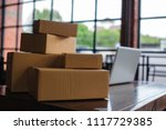 packing accessories at...   Shutterstock . vector #1117729385