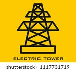 electric tower icon signs | Shutterstock .eps vector #1117731719