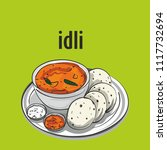 south indian tradinal food idli | Shutterstock .eps vector #1117732694