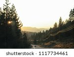 road to yosemite national park  ... | Shutterstock . vector #1117734461