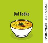 indian dal tadka vector | Shutterstock .eps vector #1117736351