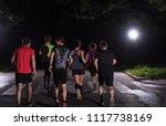 group of healthy people jogging ...   Shutterstock . vector #1117738169