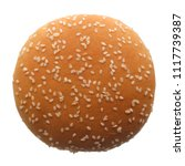 food  single burger bun ...   Shutterstock . vector #1117739387
