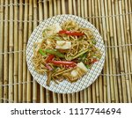 paneer curry noodles  delicious ... | Shutterstock . vector #1117744694