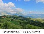 summer high view mountain... | Shutterstock . vector #1117748945