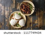 asian sandwich steamed gua bao... | Shutterstock . vector #1117749434