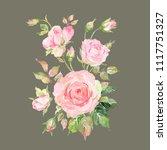 watercolor sketch of a bouquet... | Shutterstock . vector #1117751327