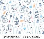 medical seamless pattern. flat... | Shutterstock .eps vector #1117753289