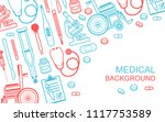 medical background. flat style. ... | Shutterstock .eps vector #1117753589