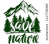 save nature  forest and... | Shutterstock .eps vector #1117758389