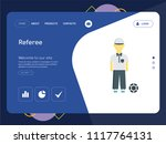 quality one page referee... | Shutterstock .eps vector #1117764131
