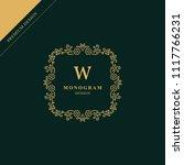 monogram design elements ... | Shutterstock .eps vector #1117766231