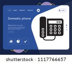quality one page domestic phone ... | Shutterstock .eps vector #1117766657