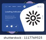 quality one page loading... | Shutterstock .eps vector #1117769525