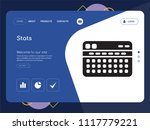 quality one page stats website... | Shutterstock .eps vector #1117779221