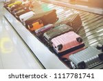 suitcase or luggage with... | Shutterstock . vector #1117781741